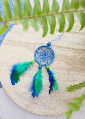 Homelymess Mini Dreamcatcher Peacock Paradise