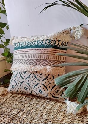 HomelyMess Greece Fairytale Boho Cushion Cover