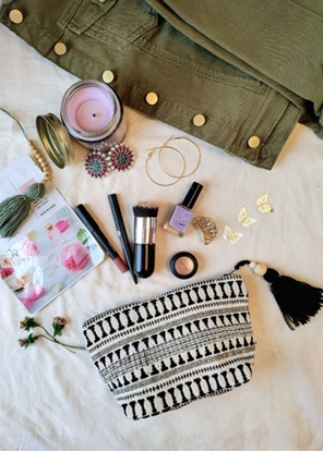 HomelyMess The Little Black Beauty Pouch Bags